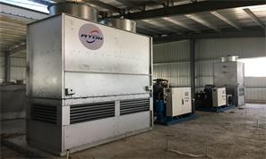 蒸发冷螺杆机组冷冻库